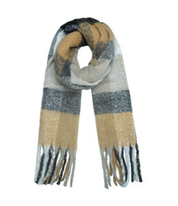 SCARF COLORED GREY