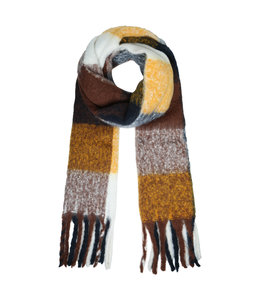 SCARF COLORED BROWN