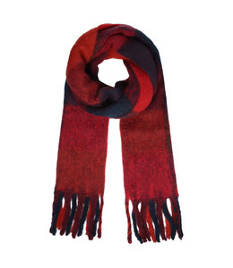 SCARF COLORED RED