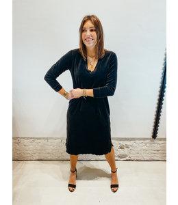 AXELLE VELVET DRESS BLACK