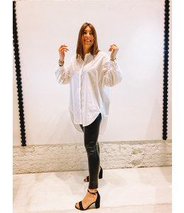 LUKA OVERSIZED BLOUSE DRESS WHITE