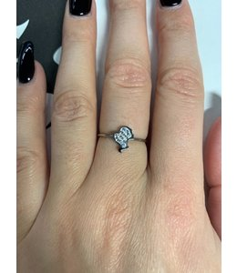 REINDERS HEADLOGO RING DIAMONDS SILVER