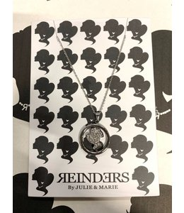 REINDERS COIN NECKLACE DIAMONDS SILVER