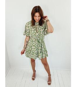 DAISY FLOWER DRESS - GREEN