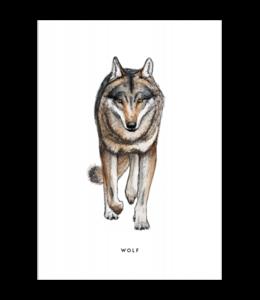 BINTJE POSTCARD A6 WOLF
