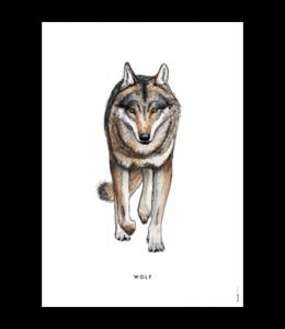 BINTJE POSTER WOLF A4