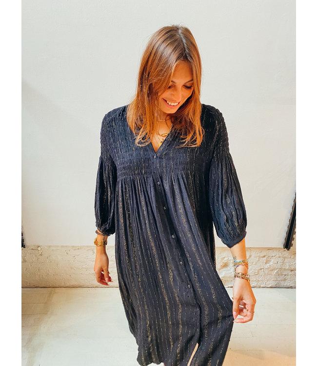 JONI GLITTER DRESS - BLACK