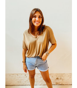 TIANA T-SHIRT - BEIGE