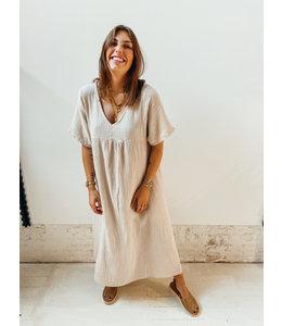PHILIPPA TETRA DRESS - CREME
