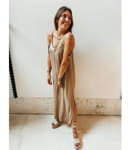 GAIA LONG DRESS - BROWN
