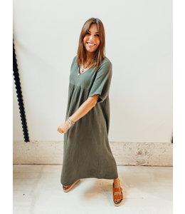 PHILIPPA TETRA DRESS - KHAKI
