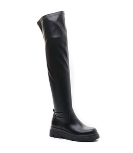LUNA OVERKNEE BOOTS - BLACK