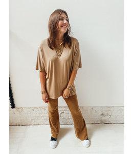 LARA SOFT FLAIR PANTS - CAMEL