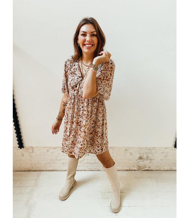 MINDY DRESS - BROWN