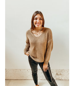 MAE OVERSIZED KNIT - BROWN