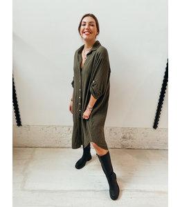 AN MARIA TETRA BLOUSE DRESS - KHAKI