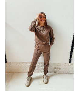 ALEXA SWEAT PANT - MUSHROOM
