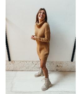 ALEX KNIT DRESS - CAMEL