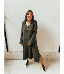 BIANCA LONG DRESS - KHAKI