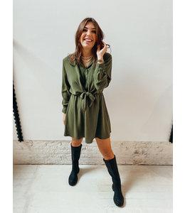SARAH KNOT DRESS - KHAKI