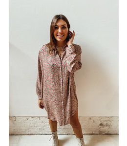 BLOOM BLOUSE DRESS - PINK