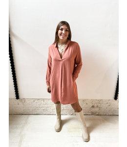 KIKI BLOUSE DRESS - ROSE