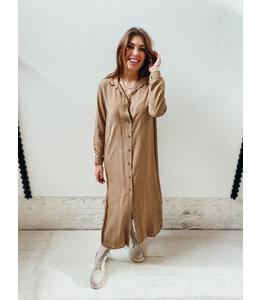 JUNE LONG DRESS - CAMEL