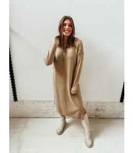 LILLY WOOL DRESS - BEIGE