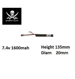 PIRATE ARMS 7.4V 1600mAh Lipo 15C Stick Type T-Plug