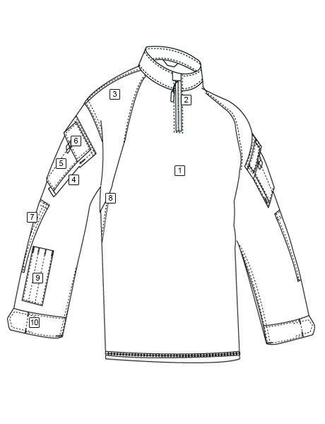 TRU-SPEC TRU 1/4 ZIP COMBAT SHIRT - FLG