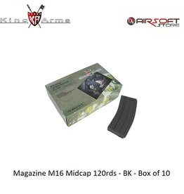 King Arms Magazine M16 Midcap 120rds - TAN - Box of 10