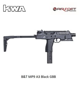 KWA B&T MP9 A3 Black GBB