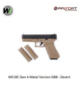 WE (Wei Tech) WE18C Gen 4 Metal Version GBB - Desert
