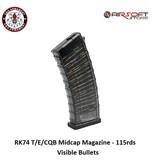 G&G RK74 T/E/CQB Midcap Magazine - 115rds - Visible Bullets