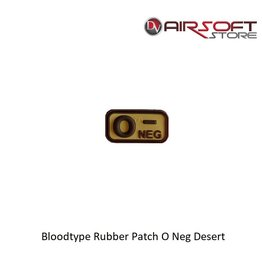 JTG Bloodtype Rubber Patch O Neg