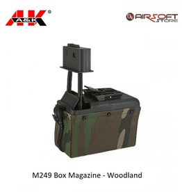 A&K M249 Box Magazine - Woodland