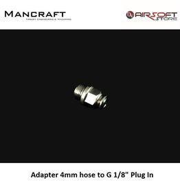 "Mancraft Adapter 4mm hose to G 1/8"" Plug In"