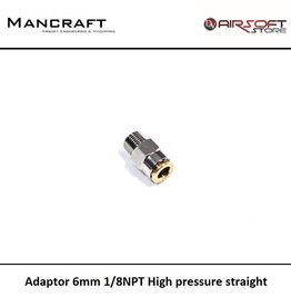 Mancraft Adaptor 6mm 1/8NPT High pressure straight