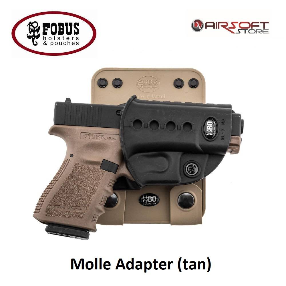 FOBUS Molle Holster Support (tan) - roto