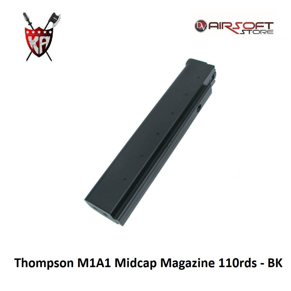 King Arms Thompson M1A1 Midcap Magazine 110rds - BK