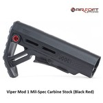 Strike Industries Viper Mod 1 Mil-Spec Carbine Stock (Black Red)