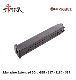 Stark Arms Magazine Extended 50rd GBB - S17 - S18C - S19