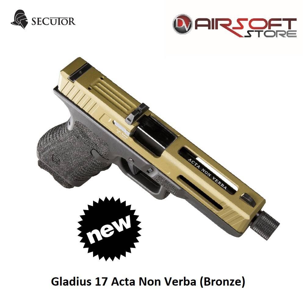 Secutor Gladius 17 Acta Non Verba (Bronze)