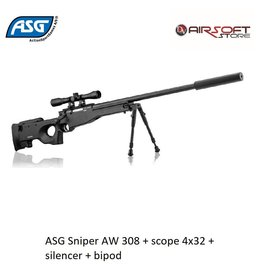 ASG ASG Sniper AW 308 + scope 4x32 + silencer + bipod