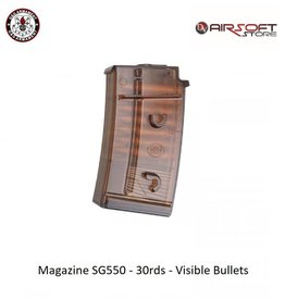 G&G Magazine SG550 - 30rds - Visible Bullets