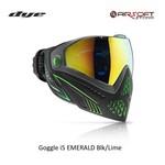 DYE PRECISION Goggle i5 EMERALD Blk/Lime 2.0