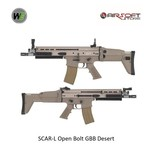 WE (Wei Tech) SCAR-L Open Bolt GBB Desert