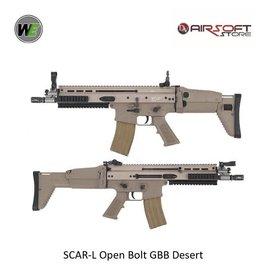 WE Europe SCAR-L Open Bolt GBB Desert