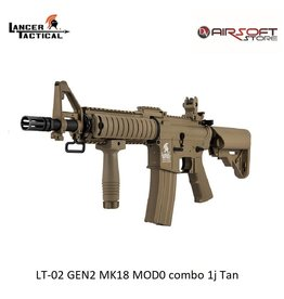 Lancer Tactical LT-02 GEN2 MK18 MOD0 combo 1j Tan