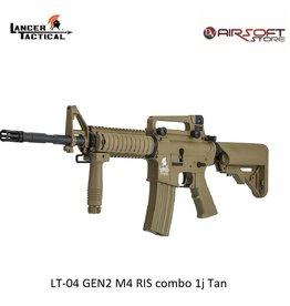 Lancer Tactical LT-04 GEN2 M4 RIS combo 1j Tan